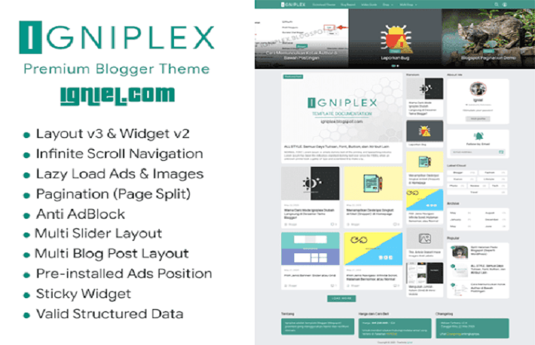 Photo of Igniplex 2.6 – Premium Blogger Template