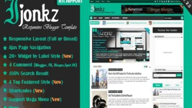 Photo of Ijonkz – Responsive Magazine/News Blogger Template v.2.0 Free Download